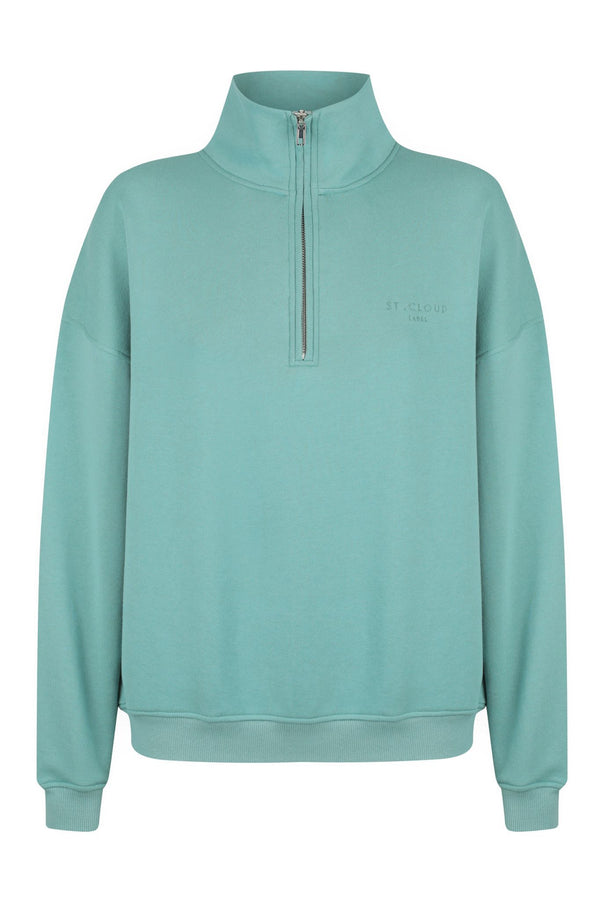 1/4 Zip Sweat - Sea Green