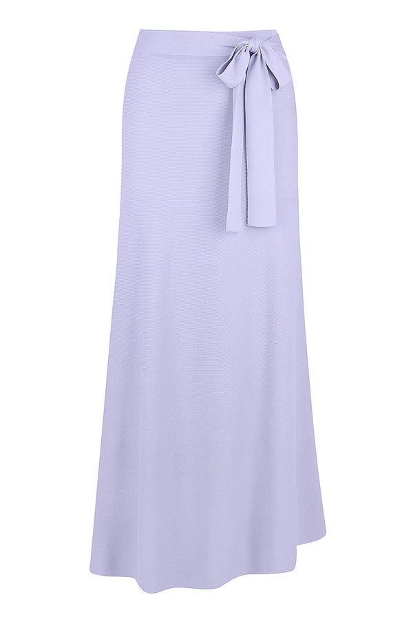 Tie Waist Knit Skirt - Dusty Lilac