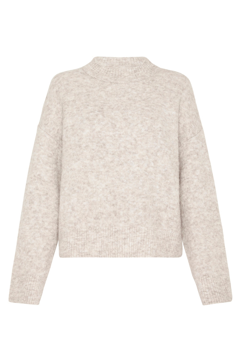 Cosy Crew Knit - Beige Marle