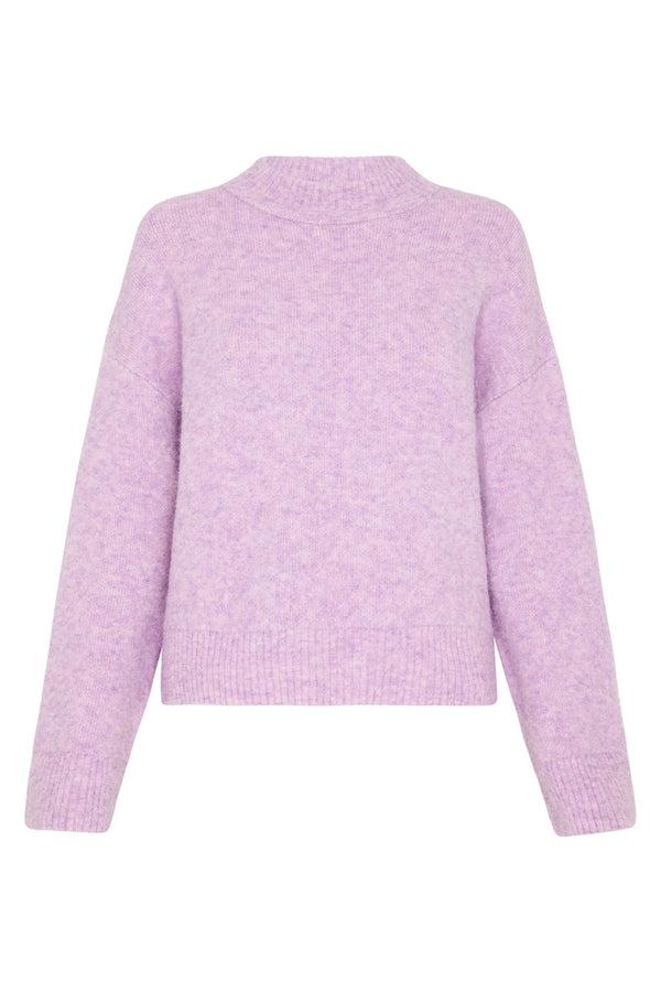 Cosy Crew Knit - Lilac Marle