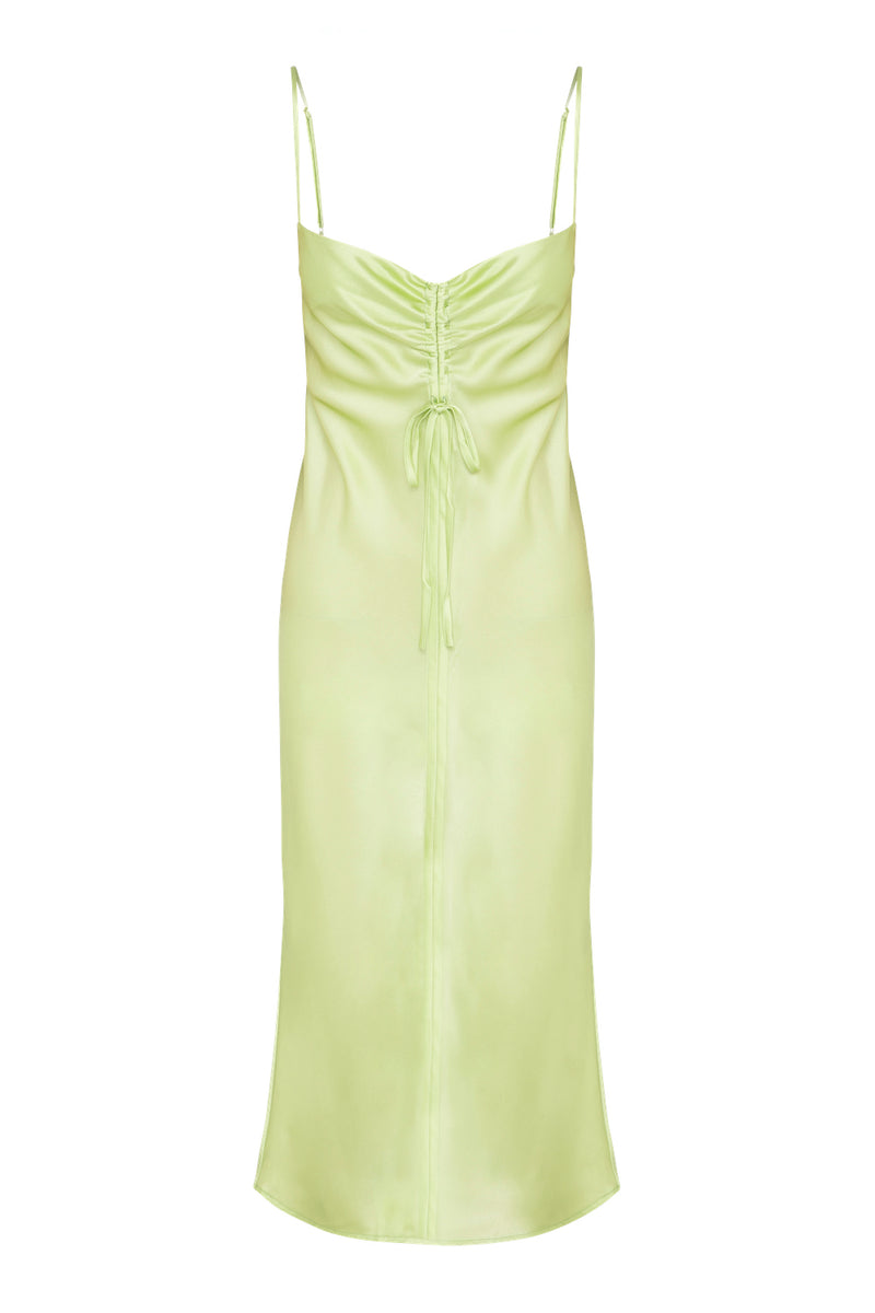 Gather Silk Cami Dress - Sage