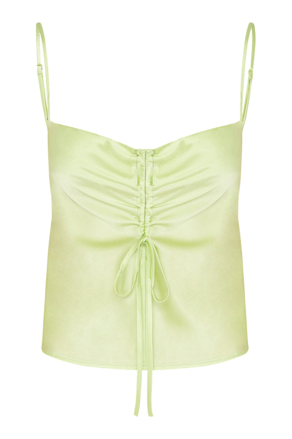 Gather Silk Cami - Sage