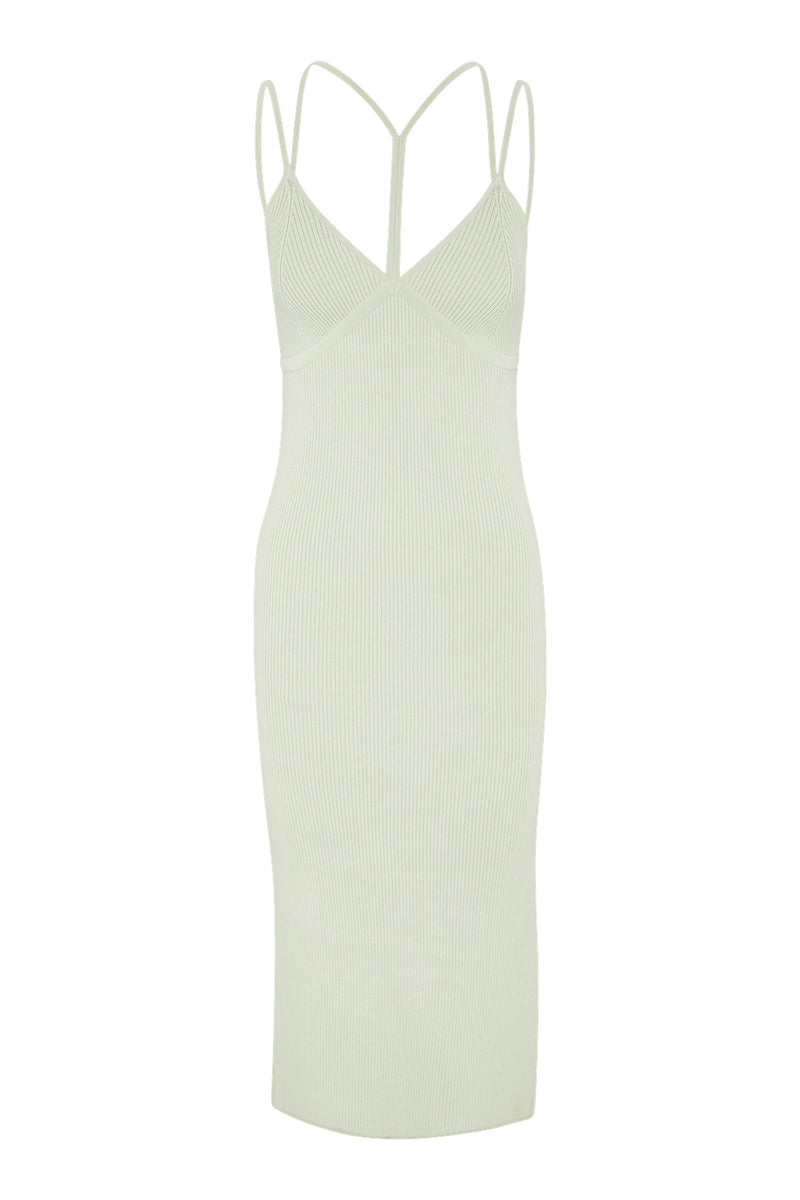 Strap Detail Singlet Dress - Pistachio