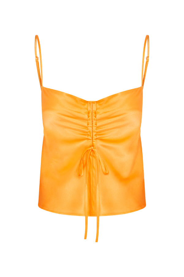 Gather Silk Cami - Tropical Orange