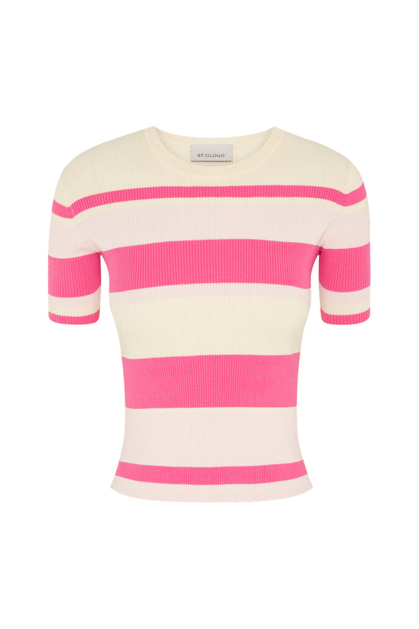 Stripe T-Shirt - Pink Stripes