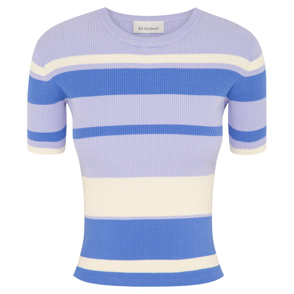 Stripe T-Shirt - Lilac Stripes