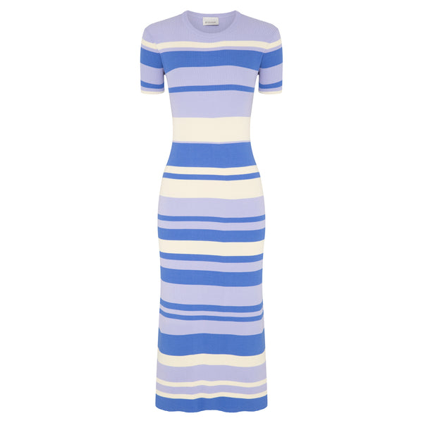 Stripe T-Shirt Dress - Lilac Stripes