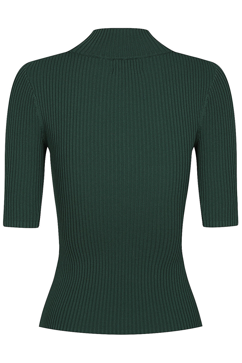 Keystone Rib Knit Tee - Emerald by  St Cloud Label