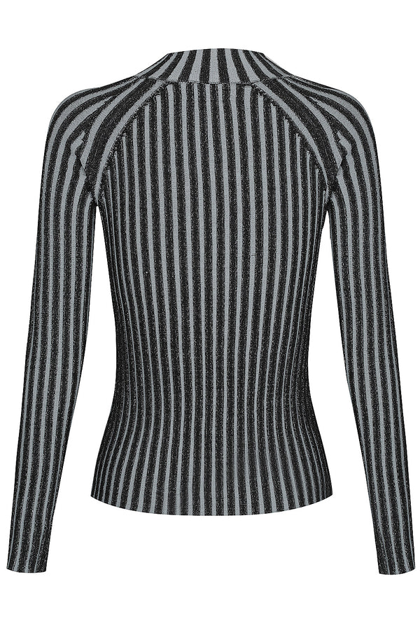 Loveland Two Tone Long Sleeve Knit - Steel by  St Cloud Label