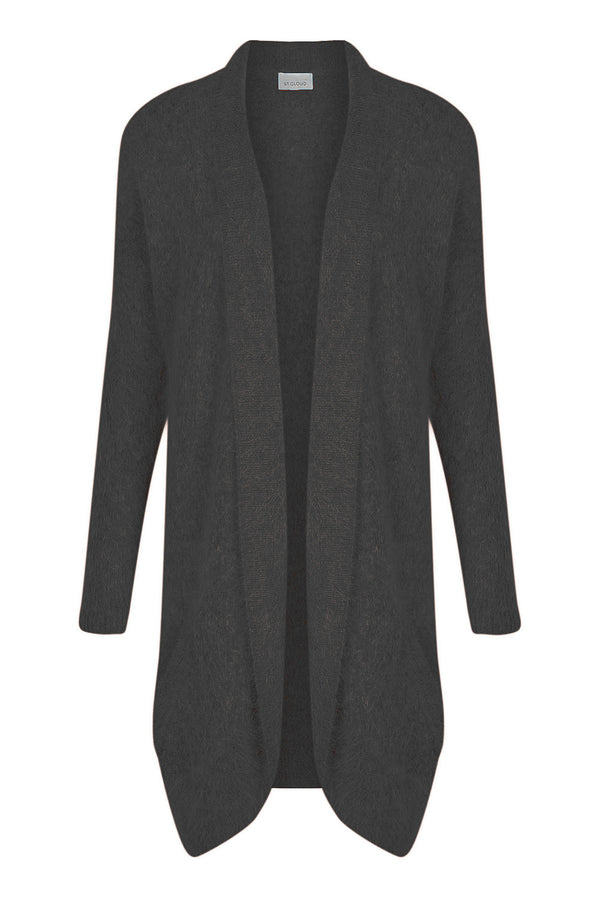 Long Fluffy Cardi - Black by  St Cloud Label