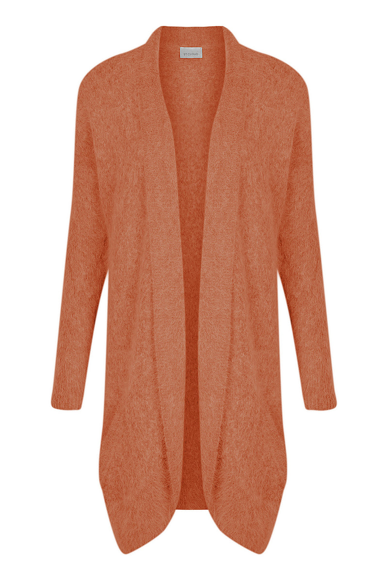 Long Fluffy Cardi - Ginger by  St Cloud Label