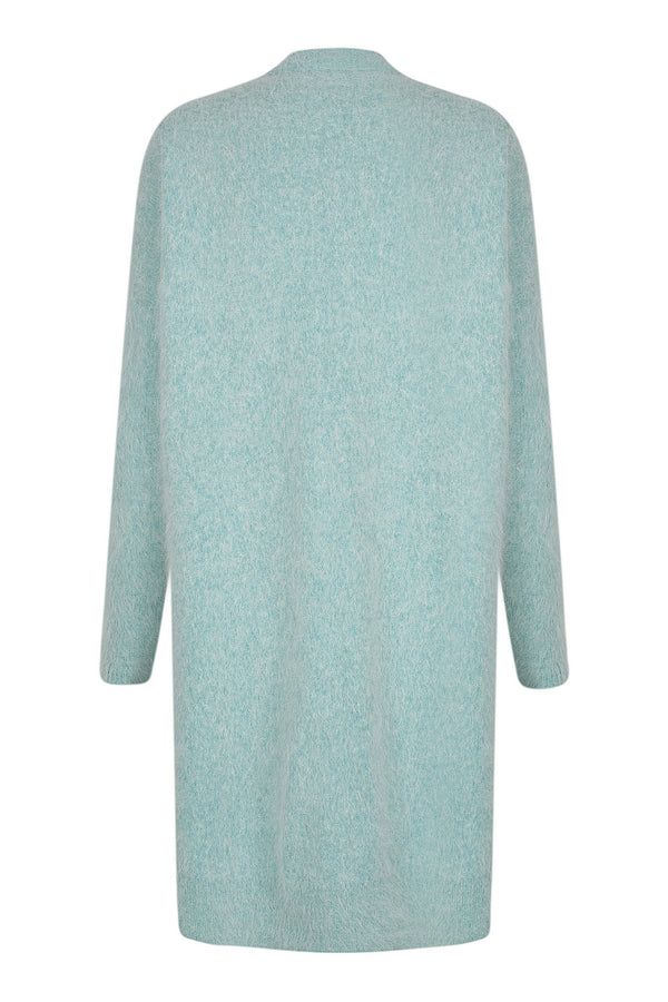 Long Fluffy Cardi - Smoke Jade by  St Cloud Label