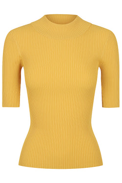 Mock Neck Knit Top - Marigold  * PRE-ORDER *