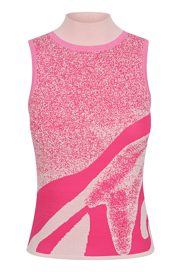 Kaleidoscope Knit Tank - Hot Pink