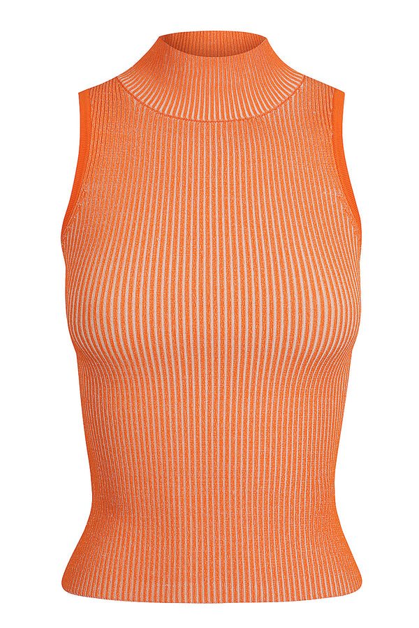 Mock Neck Tank - Papaya
