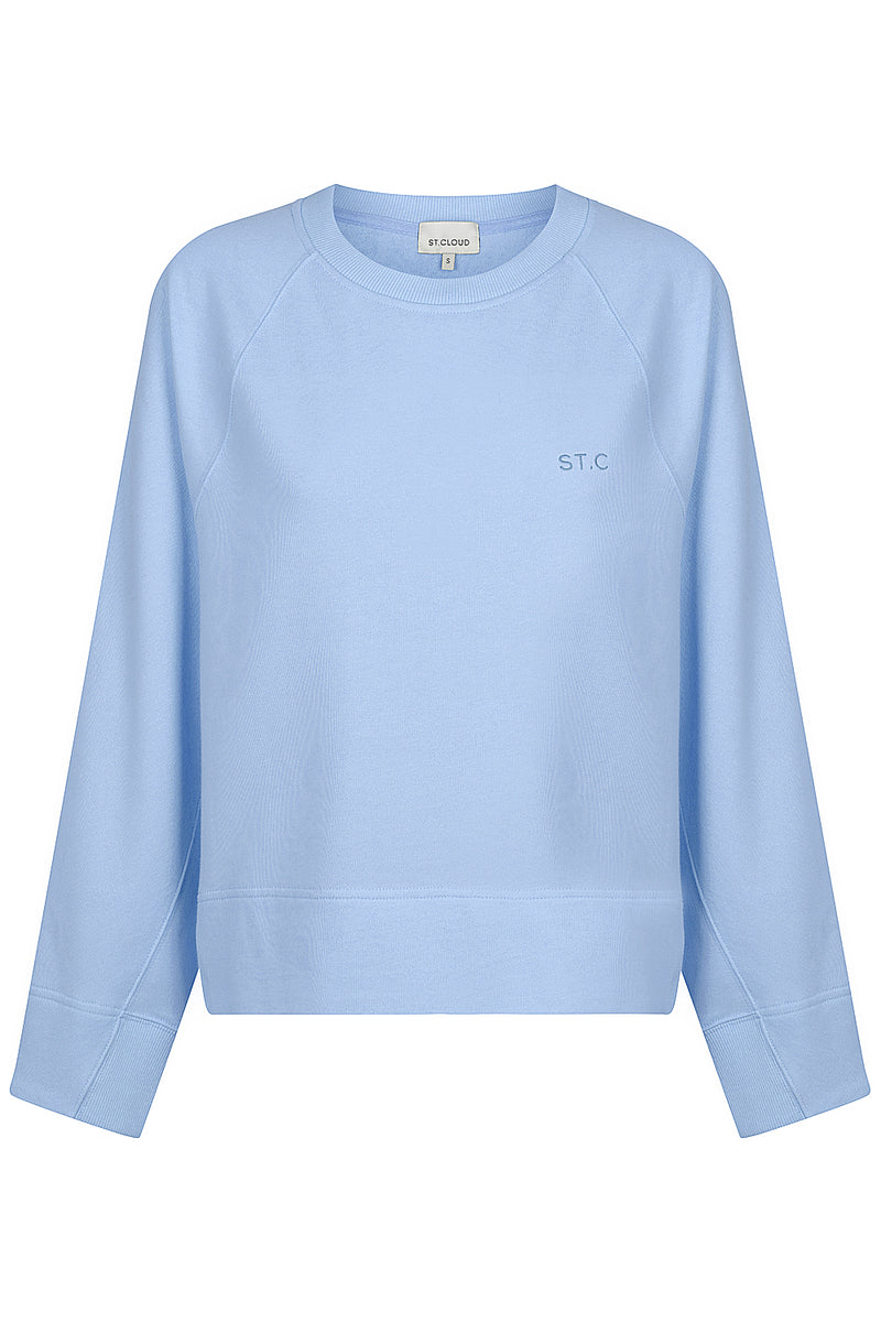 Embroidered Logo Sweat - Blue Hydrangea