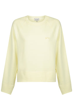 Embroidered Logo Sweat - Lemon Meringue