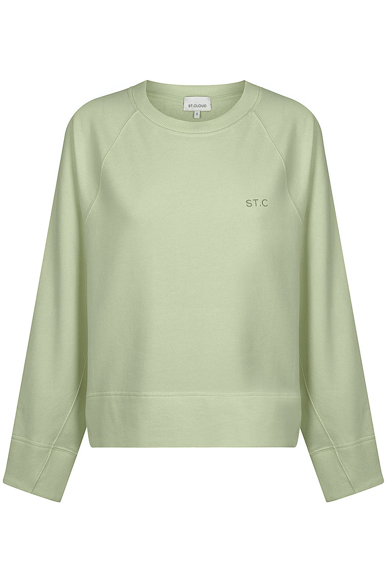 Embroidered Logo Sweat - Sage