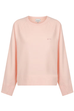 Embroidered Logo Sweat - Peach Parfait