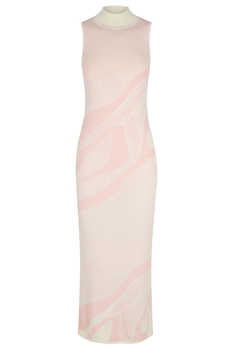 Kaleidoscope Knit Dress - Ice Pink