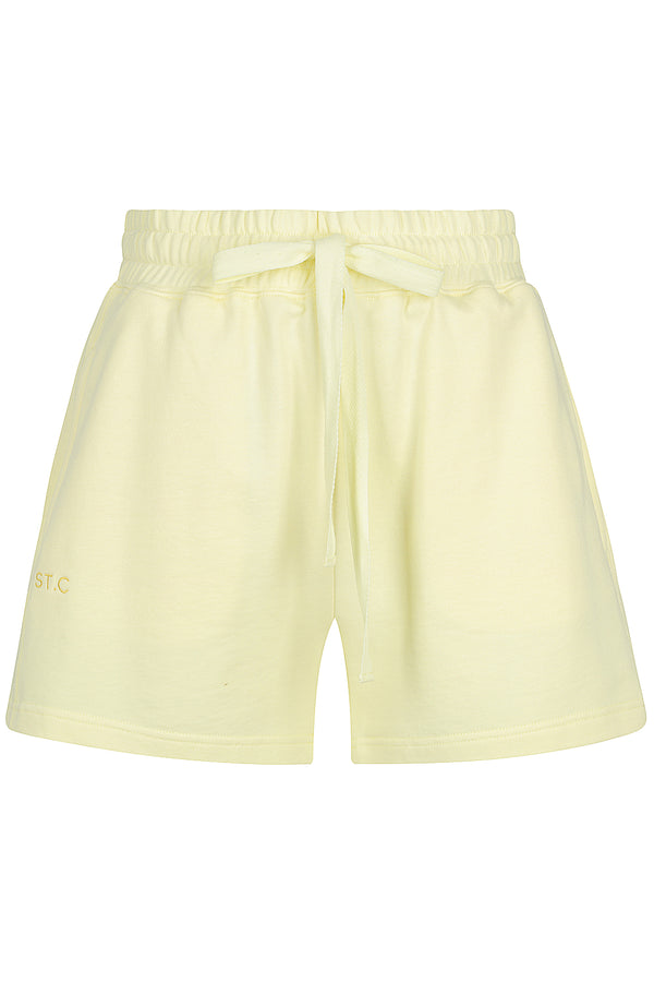 Embroidered Logo Track Short - Lemon Meringue