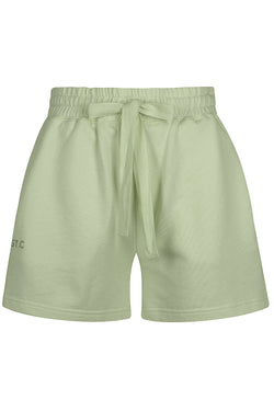 Embroidered Logo Track Short - Sage