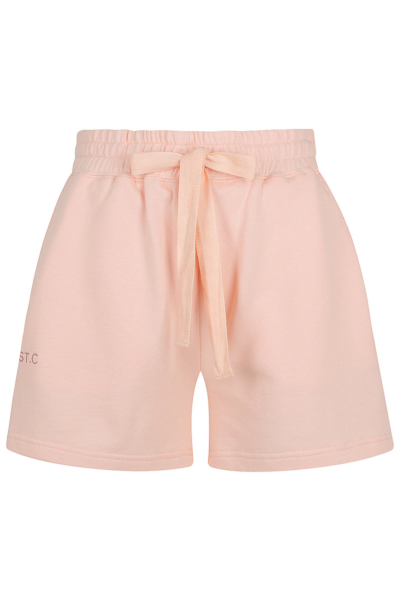 Embroidered Logo Track Short - Peach Parfait
