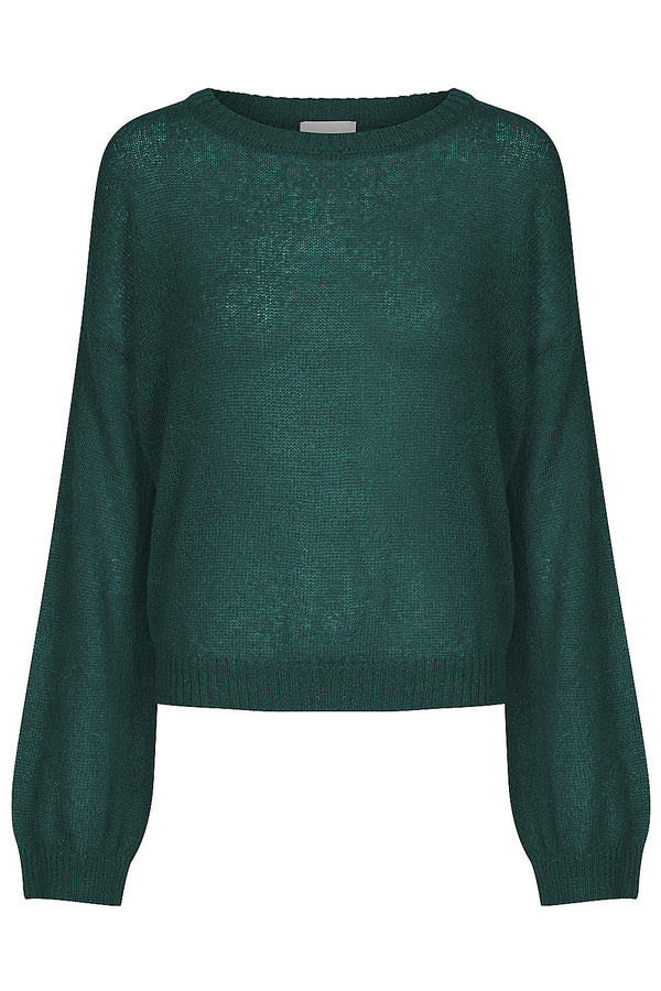 Tasman Bell Sleeve Jumper - Emerald by  St Cloud Label
