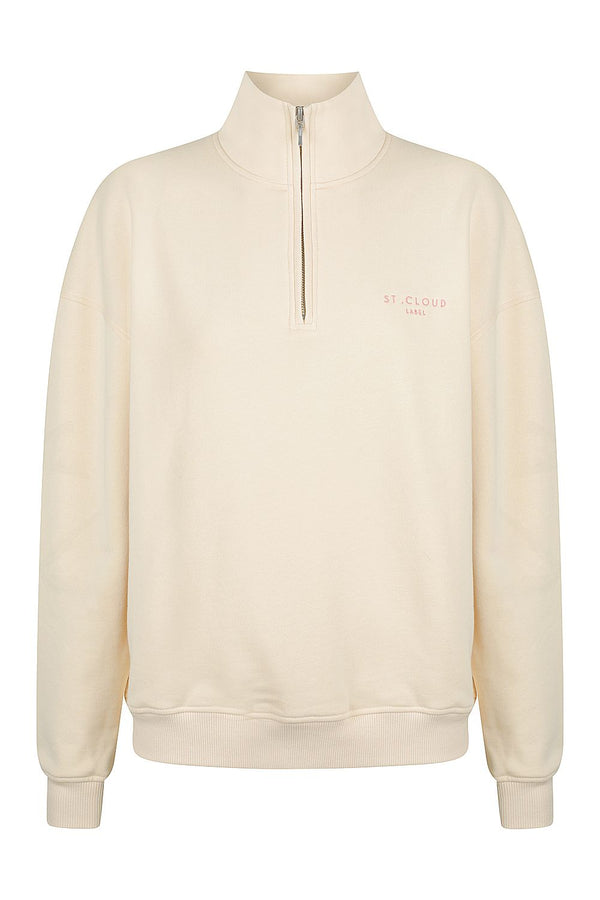 1/4 Zip Sweat - Vanilla