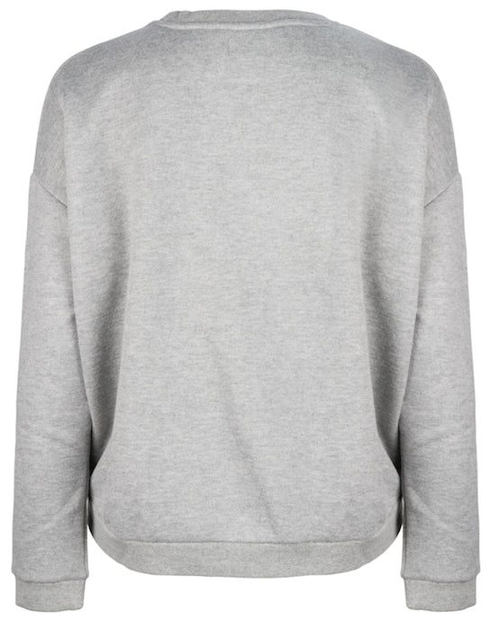 Elbrus Hand Embroidered Sweat - Cloud Grey by  St Cloud Label