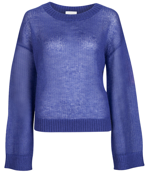 Rainer Fine Mohair Crew Knit - Amethyst by  St Cloud Label