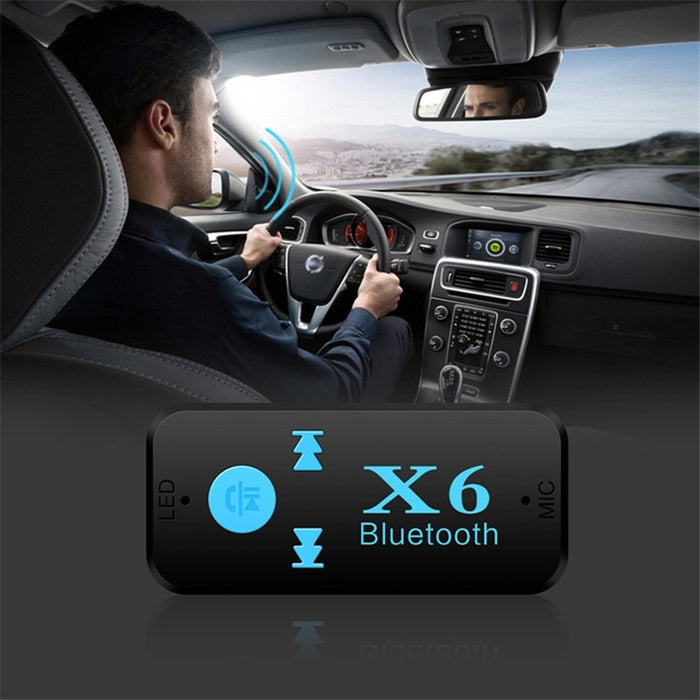 X6 Bluetooth Receiver              3.5 Bluetooth Speakerphone in Car/vehicle                Vehicle Bluetooth Wireless Music Rec - GoLive Shopping Network