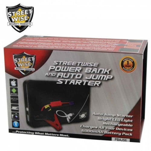 Streetwise 6k mAh Power Bank & Auto Jump Starter - GoLive Shopping Network