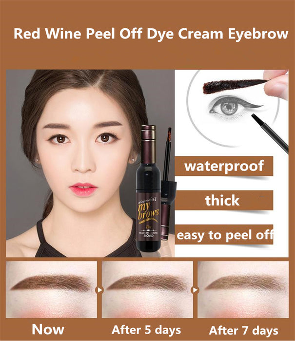 Peel Off Tint Waterproof Long-lasting Eye Brow Tattoo Gel Cream