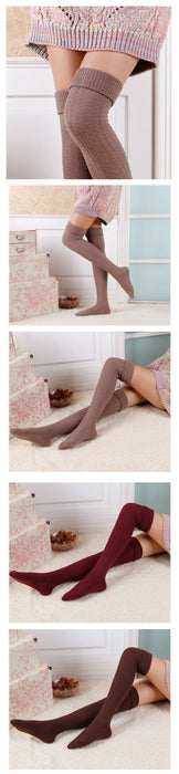 VenusFox High Quality Warm Cotton Thigh High Over The Knee Socks For Women
