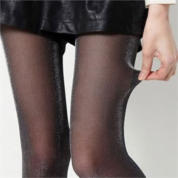 VenusFox Women Sexy Charming Shiny Pantyhose Glitter Stockings Thin Tights