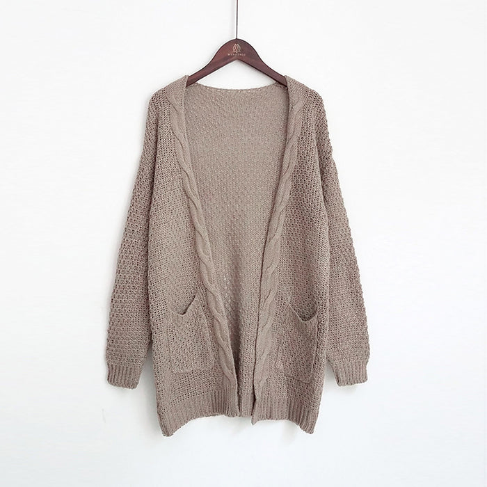 VenusFox Long Long Sleeve Knitted Sweater Cardigans