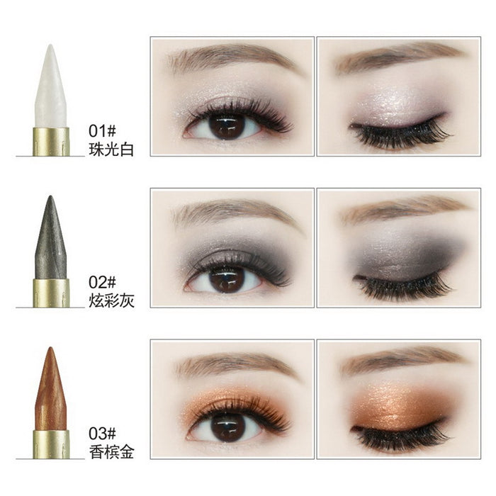 Double-end Glitter Eye Shadow Pencils Waterproof Pigments Eyeliner & Eyehadow Pen