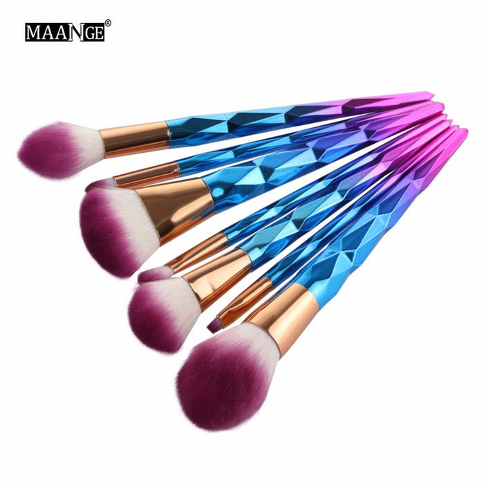 7/10Pcs Diamond Makeup Powder Foundation Eye Shadow Blush Blending Brushes Set  Tool Kits