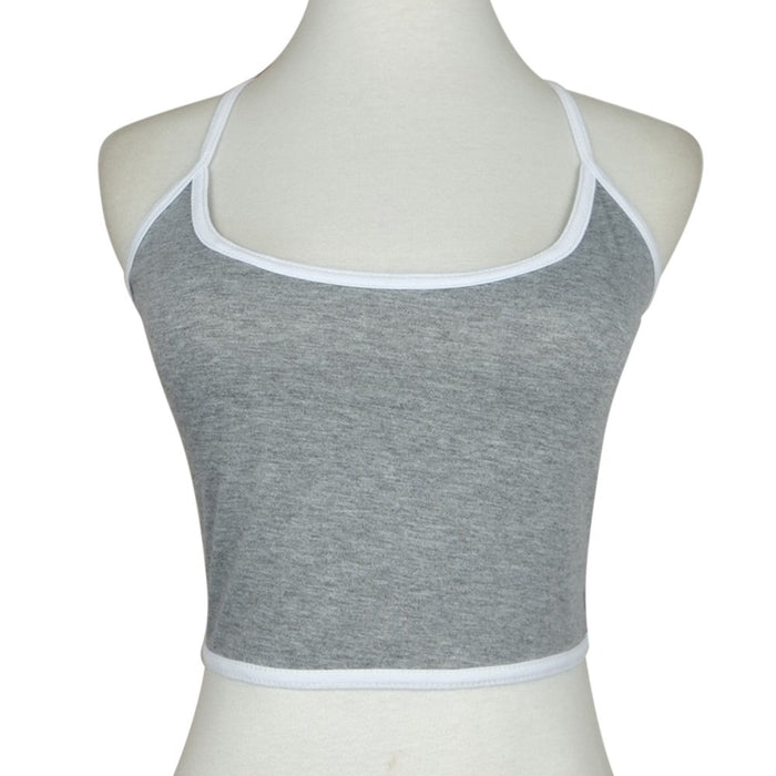 VenusFox Sexy Crop Tops For Women Halter Fitness Skinny T-Shirt
