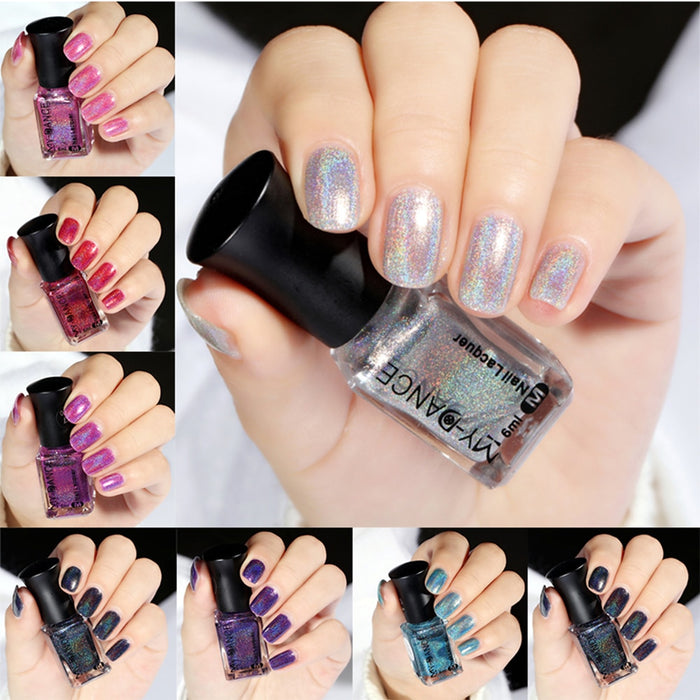 6ml Nail Polish Glitter Shining Colors Glimmer 1 bottle/lot