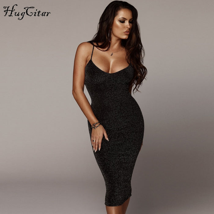 VenusFox high waist bodycon slash backless sexy long dress