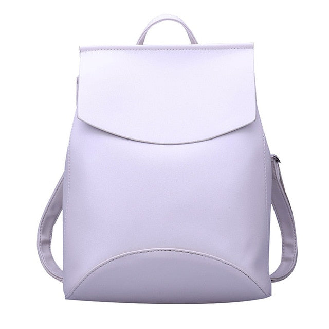 Women High Quality Fashion Leather Backpack Shoulder Bag