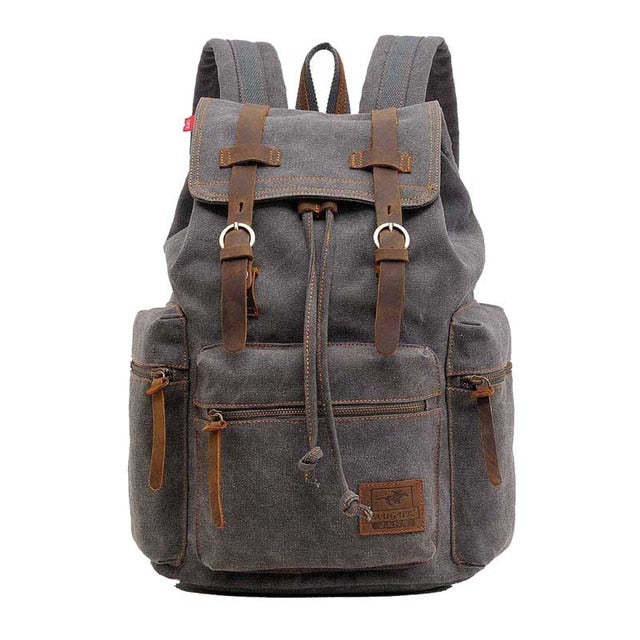 Vintage Travel Bag Various Colors Laptop Canvas Backpack