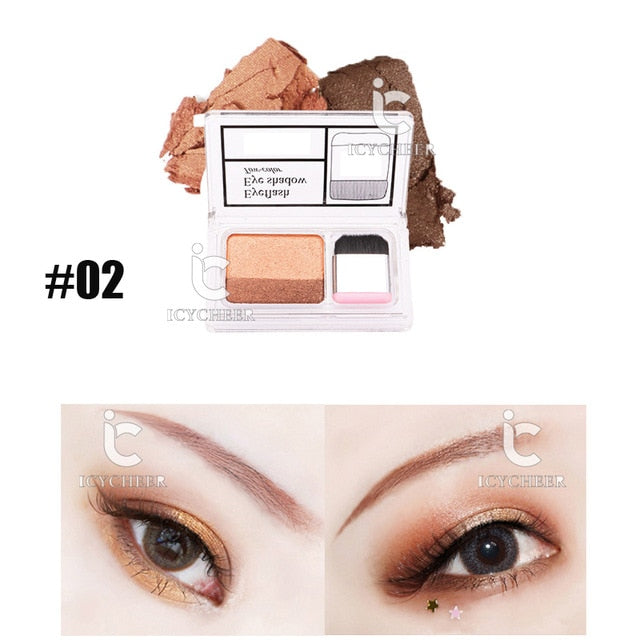 Lazy Eyeshadow Stamp Holiday Edition Eye Shadow Double Color Shimmer Palette
