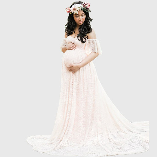 Long Maternity Photography Lace Dresses