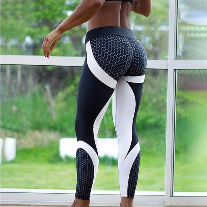 VenusFox Fashion Digital Print Ice and Snow Fitness Leggings