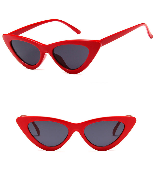 Retro Cat Eye Small Frame Triangle Sun glasses