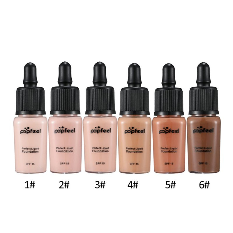 6 Colors SPF 15 Perfect Base Foundation Waterproof Makeup Face Concealer Foundation Cream