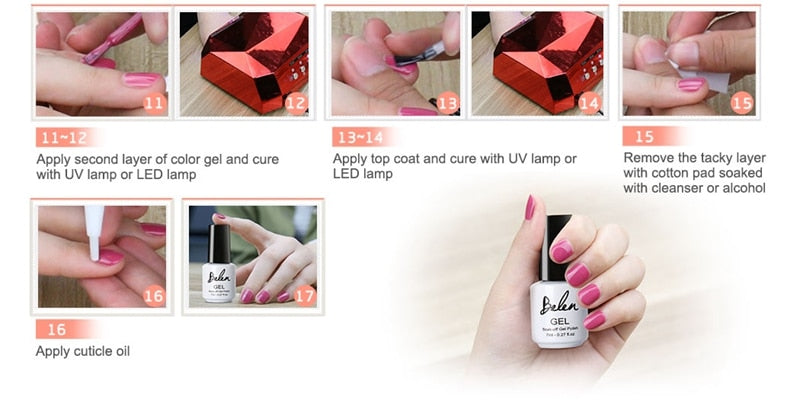 7ml Light Color Gel Nail Polish Long-lasting Hybrid Semi Permanent UV LED Lamp